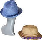 "Шляпа ""трилби"" летняя, фото 2"