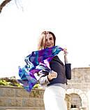 Шелковый платок в синих тонах в клетку Chadrin, фото 4