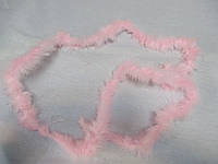 Пух на тасьмі 1,8 м 13 грам ніжно- рожевий J02