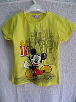 """Детская футболка """"Мики """"р 104-110-116-122- Турция"""