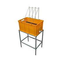 Стол для распечатки сот с ванночкой пластиковой 300 мм, сито нержавеющая сталь.