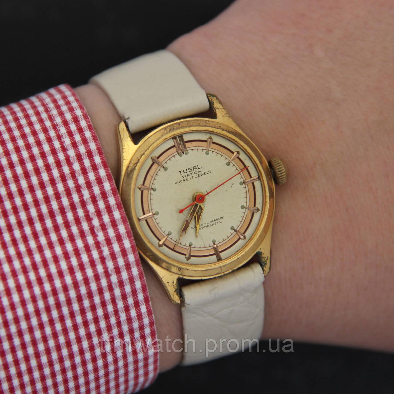 8e490622 Tusal watch небольшие наручные механические винтажные швейцарские часы