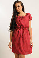 Легкое летнее женское платье с цветочным принтом
