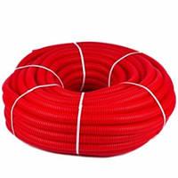 Гофротруба захисна 24/28 мм (для труб 20 мм) червона