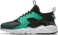 Мужские кроссовки Nike Air Huarache (Найк Хуарачи) зеленые