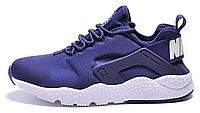 Мужские кроссовки Nike Huarache (Найк Хуарачи) синие