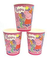 """Стаканчики """"Свинка Пеппа"""" розовая. Объём-250 мл, в упак. 10 шт"""