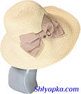 Шляпа мягкая с украшением в виде банта, фото 4