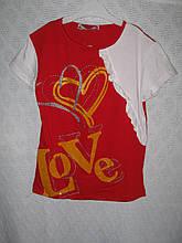 """Футболка для девочки """"Love""""раз.116-128-134-140. Турция"""
