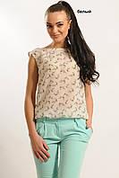 Шифоновая летняя женская блуза в расцветках
