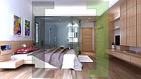 Дизайн-проект интерьера - спальная комната kombi