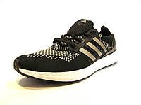 Кроссовки мужские  Adidas Ultra Boost текстиль черные (адидас) (р.41)