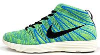 Мужские высокие кроссовки Nike Lunar Flyknit Chukka Green Найк Лунар Флайнит зеленые