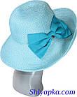 Шляпа мягкая с украшением в виде банта голубая, фото 5