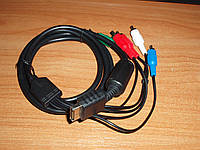 Кабель компонентный для Sony Playstation PSP 2, PSP 3  HD Component AV Cable 5 RCA