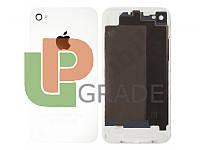 Задняя крышка для iPhone 4 белая, копия высокого качества
