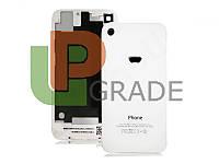 Задняя крышка для iPhone 4S белая, копия высокого качества