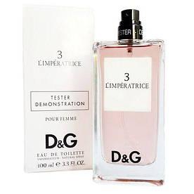 Женская туалетная вода Dolce & Gabbana 3 L`Imperatrice (Дольче Габбана 3 Императрица) тестер без крышки