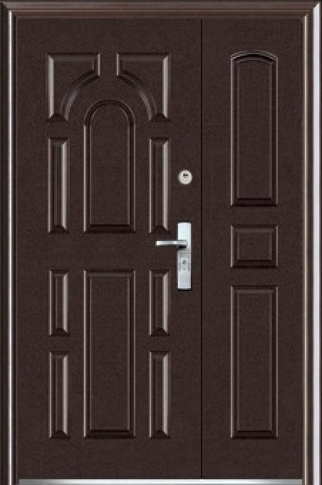 Полуторные двустворчатые входные двери ААА 724 на улицу Китай