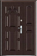 Полуторные двустворчатые входные двери ААА 724 утепленные на улицу Китай
