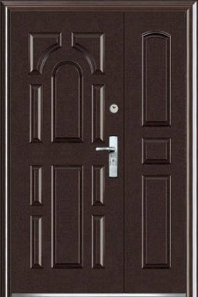 Двустворчатые входные двери ААА 724  на улицу Китай, фото 2
