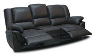 """Кожаный диван """"ALABAMA"""" Трехместный (199 см), Реклайнер, натуральная кожа"""