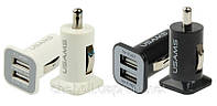 Автомобильная зарядка USAMS 3.1 A на 2 USB, автозарядка