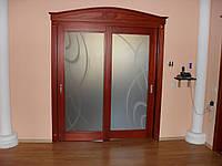 Раздвижные двери из натурального дерева под заказ.