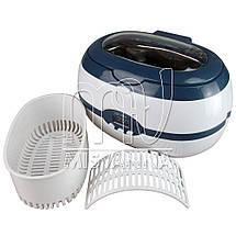 Стерилизатор ультразвуковой Ultrasonic Cleaner VGT-2000 на 35 Вт и 600 мл, фото 3
