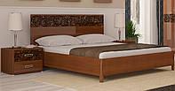 Кровать двуспальная «Флора» с каркасом  MiroMark