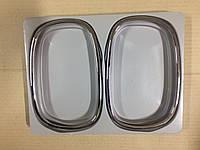 Накладки на зеркала Ssangyong Rexton хром пластик (ободок ) корея