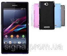 Силиконовый чехол для Sony Xperia C C2305 S39h + пленка