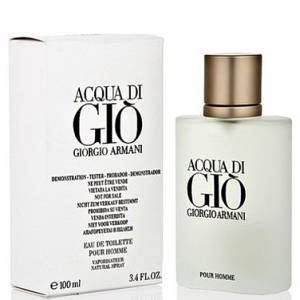 Мужская туалетная вода Giorgio Armani Acqua Di Gio (Джорджио Армани Аква Ди Джио), тестер без крышки