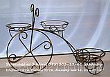 "Подставка для цветов на 3 чаши ""Велосипед-3"", фото 2"
