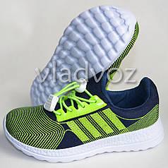 Детские кроссовки для девочки легкие салатовые модель 31р.