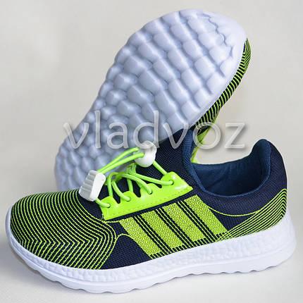 Детские кроссовки для девочки легкие салатовые модель 31р., фото 2