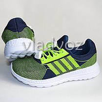 Детские кроссовки для девочки легкие салатовые модель 32р., фото 3
