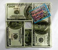 Гирлянда из долларов бумажная денежная гирлянда