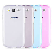 Силиконовый чехол для Samsung Galaxy S3 i9300 супертонкий 0.3 мм