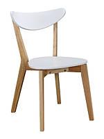 Стул Нильсон белый сиденье ольха