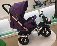 Велосипед-коляска трехколесный Super Trike TR20106 (спинка ложится,надувные колеса) ФИОЛЕТОВЫЙ