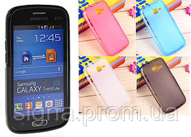 Силиконовый чехол для Samsung Galaxy Star Plus S7262 + защитная пленка