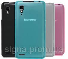 Силиконовый чехол для Lenovo P780 + защитная пленка