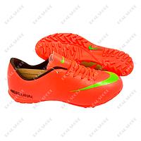 Обувь футбольная бампы (сороконожки) Nike Mercurial Orange FB180006 (р-р 37-44, оранжевый)