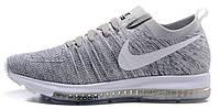 Мужские спортивные кроссовки Nike Zoom Flyknit Grey Найк Зум серые