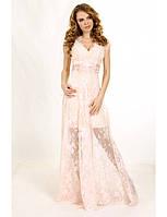 Вечернее платье (тройка) из кружева Шантильи