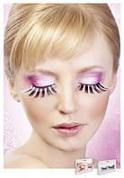 Накладные ресницы перьевые Pink-Black Glitter Eyelashes