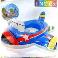 Круг надувной детский Самолет 59586, до 11 кг, (1-2 года), с ремкомлектом