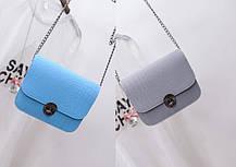Fashion сумка клатч сундучок под крокодил, фото 3