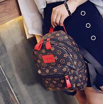 Трендовый коричневый рюкзак в ромбики, фото 2